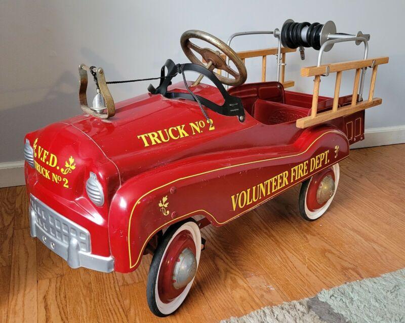 Rare No.2 Pedal Car  Vintage 1970 Gearbox Pedal Car FIRE TRUCK No. 2