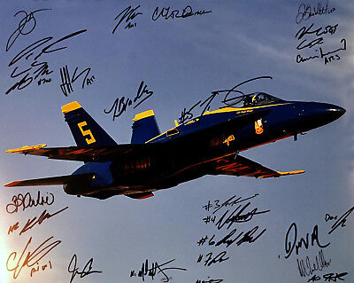 Blue Angels 2018 COMBO RARE COA SIGNED 11x14 PHOTO PROOF AUTOGRAPHED U.S. Navy
