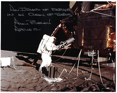 Alan Bean --  Apollo 12 Signed Lunar Surface Photo