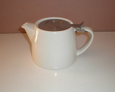 FORLIFE White Stump Teapot - Stainless Steel Lid - Holds 18floz  NO Infuser