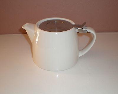 FORLIFE White Stump Teapot - Stainless Steel Lid - Holds 18floz  NO Infuser
