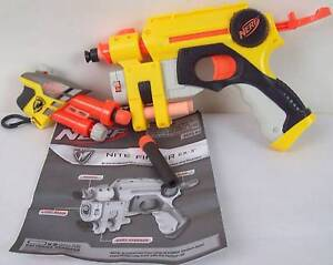 NERF Nite Finder EX-3 Pistol with Laser Site + N-Strike AS-1 Gun Blakeview Playford Area Preview
