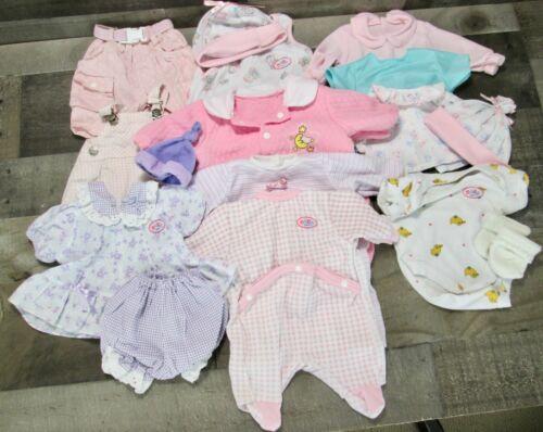 Baby Born Clothes Lot Zapf Creation Pink Sleeper Dress Shirt Hat Pajamas Vintage