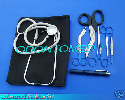 Colormed Holster Set Ems Emt Diagnostic Surgical Instruments Ds-777
