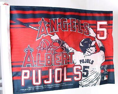 LA Anaheim Angels Car Flag 2011 Albert Pujols 5 MLB Los Angeles California (Anaheim Angels Car Flag)