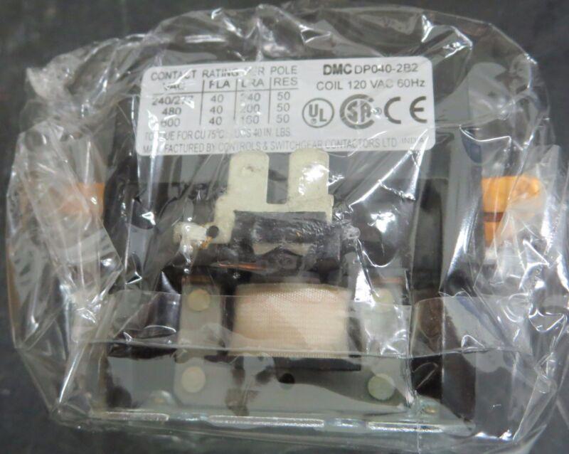 Danfoss DP040-2B2 Definite Purpose Magnetic Contactor 2 Pole 120 VAC Coil
