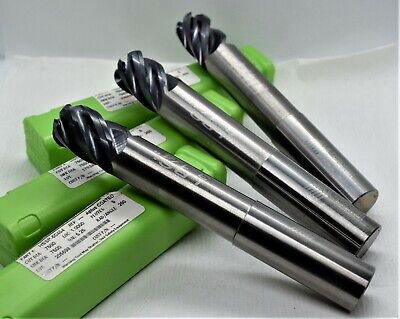 Helical Lot 3 Carbide 34 X 34 X 1 X 5-14 5fl R.250 End Mill Aplus Coated
