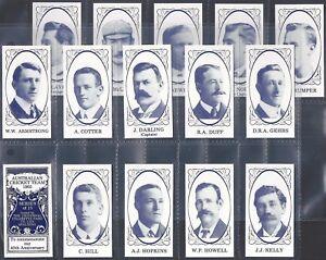 UNIVERSAL CIGARETTE CARD CO.-FULL SET- AUSTRALIAN CRICKET TEAM 1905 (15 CARDS)