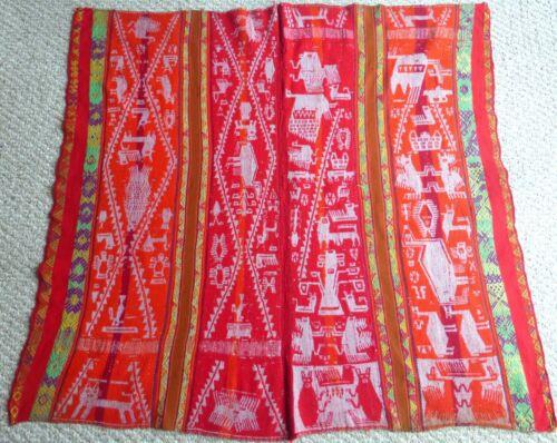 Peruvian Handmade Awayu Cloth -  Andean Mountain Textile (vintage)