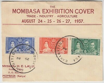 KENYA 1937 *MOMBASA EXHIBITION* official printed cover with EXHIBITION cancels