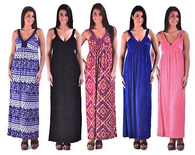 Design History Womens Maxi Dress Summer Braided V-Neck Greek Empire Long Soft