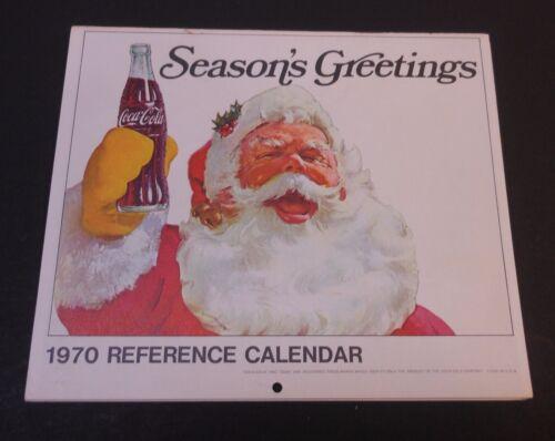 Vintage Coca Cola 1970 Reference Calendar