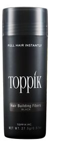 TOP-RATED-SELLER-Toppik-hair-building-fiber-Newest-Sealed-Bottle-27-5gm-Black