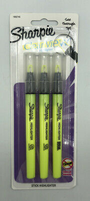 Sharpie Clear View Highlighter Stick Chisel Point Yellow Pack Of 3
