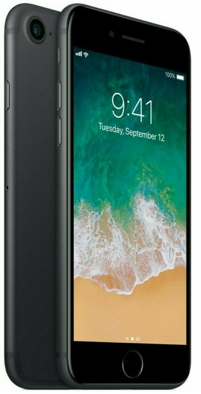 1 von 5 : Apple  iPhone 7 - 32GB - Black - (GSM) Unlocked - Smartphone • 98,89 €