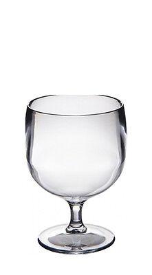 Polycarbonate Plastic Wine Glasses - Set of Roltex Unbreakable Reusable Polycarbonate Plastic STACKING Wine Glasses