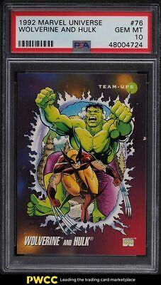 1992 Marvel Universe Wolverine Hulk 76 PSA 10 GEM MINT - $10.50