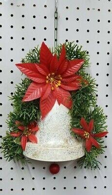 Vintage Christmas Musical Holiday 1/2 Bell  Pull Cord  music box Jingle Bells 9