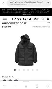 Brand new 100% authentic Canada Goose windermere coat size XL