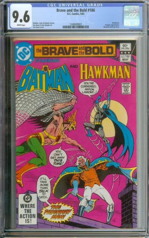 BRAVE AND THE BOLD #186 CGC 9.6 WHITE PAGES