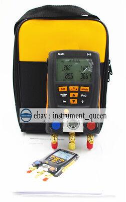 Testo 549 With Soft Case Digital Manifold Gauge 2 Valves System Hvac 0560 0550