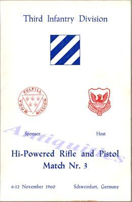 1960 Germany US Army 3rd Infantry Div Rifle Pistol Competition Match Program