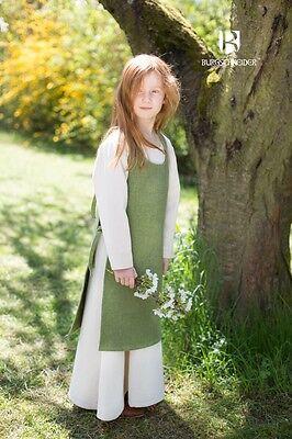 Mittelalter Kleid Grün (Mittelalter Überkleid Kinder Kleid Ylva  / LARP - Lindgrün von Burgschneider)