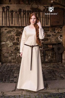 Mittelalter Unterkleid Wikinger Kleid Gewand / LARP - Natur von - Wikinger Kostüm