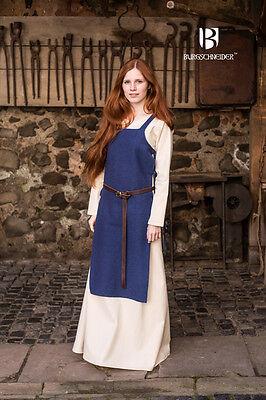 Mittelalter Schürzenkleid Überkleid Wikinger / LARP - Blau von - Blau Schürze Kostüm