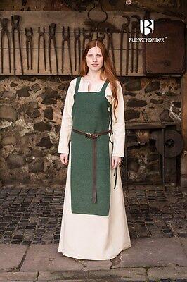 Mittelalter Schürzenkleid Überkleid Wikinger / LARP - Grün von Burgschneider