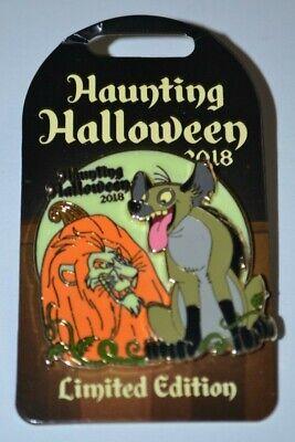 Disney Scar & Hyena Ed Haunting Halloween Pin 130871 Limited Edition GITD