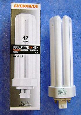 Sylvania 20871 42W 3500K 4 Pin GX24q-4 Plug In Base CFL Bulb CF42DT/E/IN/835/ECO 42w T4 Gx24q 4 Base