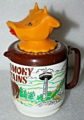 Vintage WHIRLEY Industries Figural Cow Head Creamer Mug Great Smokey Mountains