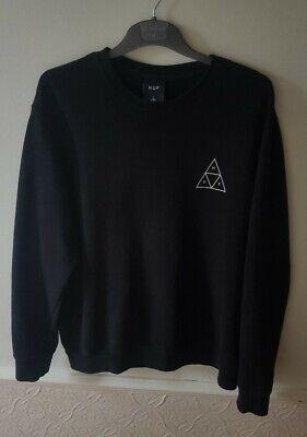 HUF Black Sweat Shirt Size Large