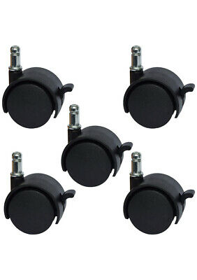 Mysit 2 Replacement Office Chair Or Stool Caster Wheels - With Brake Set Of 5