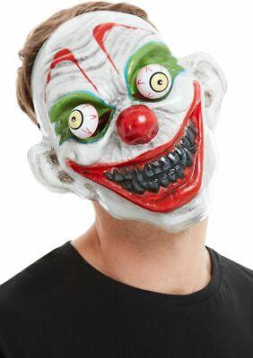 PVC Clown Maske mit Bewegliche Augen Erwachsene Halloween Kostüm Zubehör