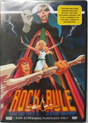 Rock And Rule (DVD, 2005, Single Disc Version) NTSC, Widescreen, Region 1