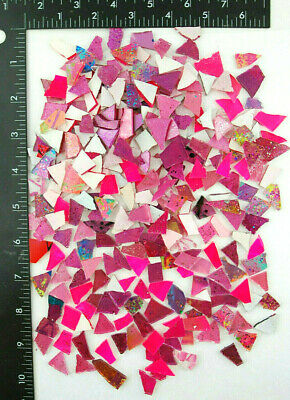 BIG 1/2 pound bag of mixed PINK SCRAPS!   Glass Mosaic Tile by Makena (Big Pink Glasses)