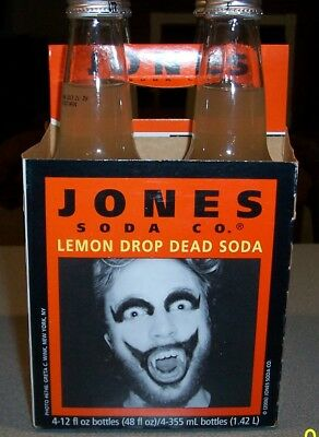 Jones Soda Halloween Lemon Drop Dead Soda Bottles 2006 (Sealed) Joker Costumes