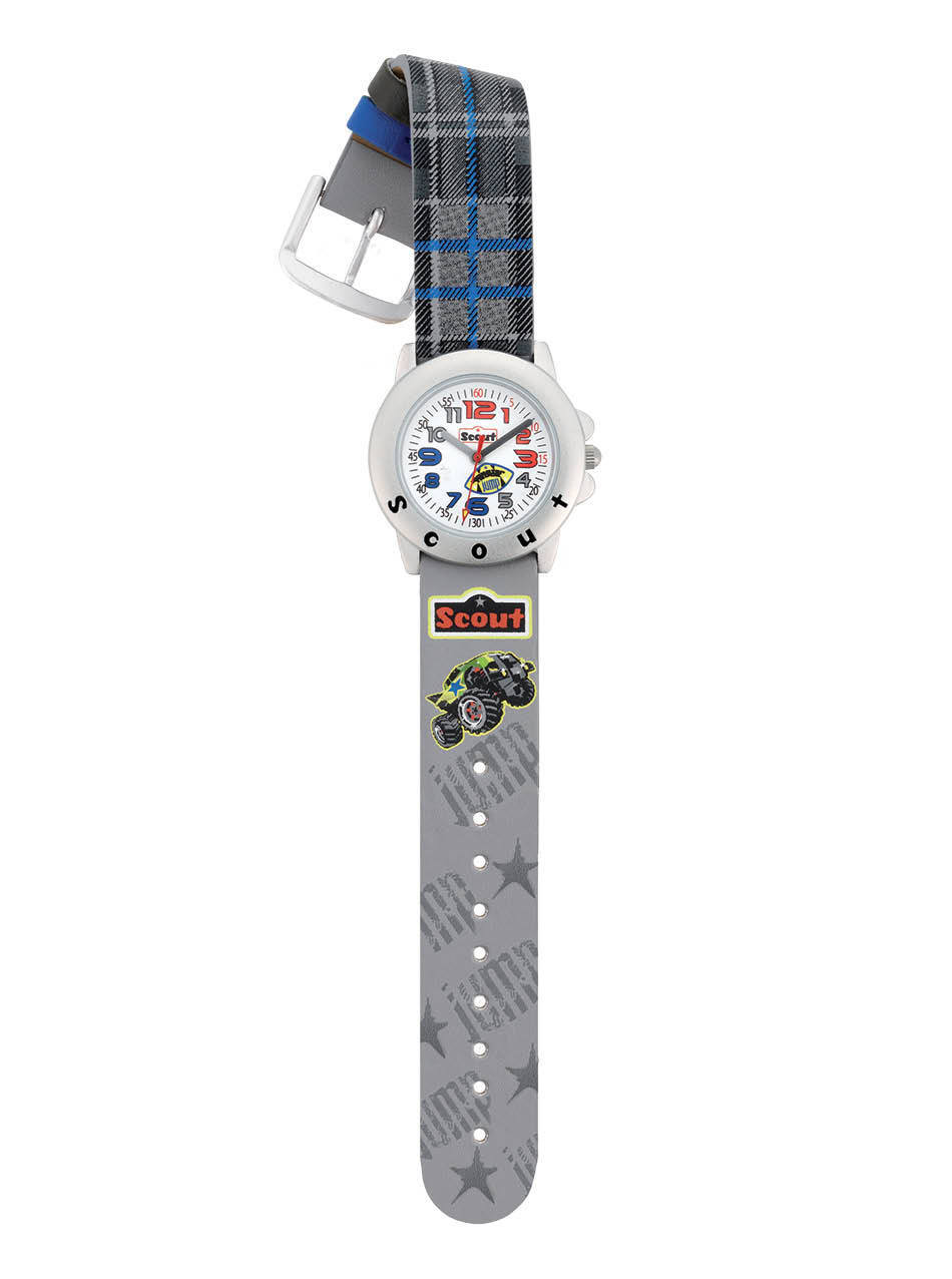 Scout Kinderarmbanduhr, Monstertruck, grau, Serie STAR KIDS,Art.Nr.280393021
