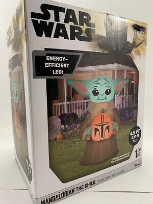 Star Wars 4.5' Ft The Child Airblown Inflatable Mandalorian Halloween Baby Yoda