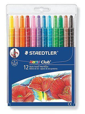 Staedtler Noris Club Wachs-Twister Wachs-Malstifte Set mit 12 Farben Stifte