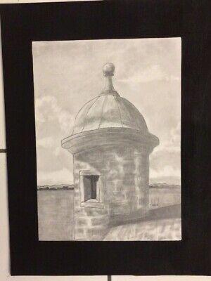Pencil Sketch of Garita IV Old San Juan, Puerto Rico