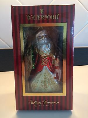 waterford holiday heirlooms christmas santa [ NEW IN BOX ]