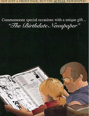 1907 1917 1927 1937 1947 1957 1967 1977 1987   Original Birthday Newspaper Gift