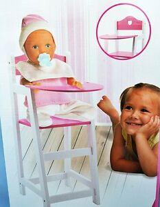 Puppenstuhl Holz Puppenhochstuhl - Puppen - Holzstuhl -