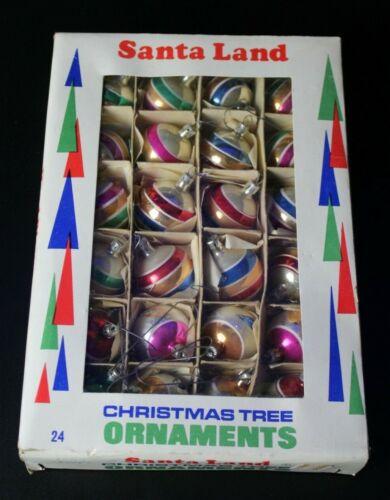 Vintage Santa Land Hand Blown Painted Christmas Ornaments Lot of 24 InBox Poland