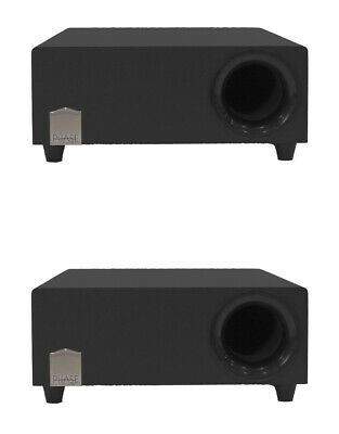 2 x 10″ 150W Low Profile Subwoofer Speaker Integrated Amp Home Audio Theater