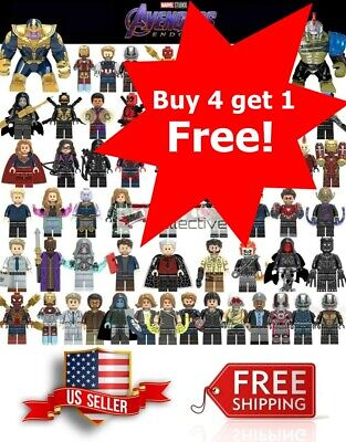 Block Building Games (Avengers Minifigure Building Blocks End Game Iron Man Captain America Thor)