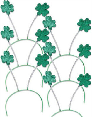 Set 6 St Patricks Day Green Shamrock Head Boppers Headbands - Head Boppers Wholesale